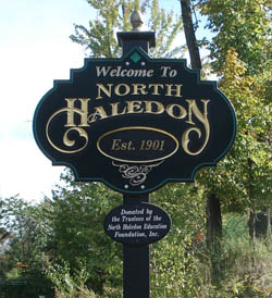 North Haledon, NJ welcome sign