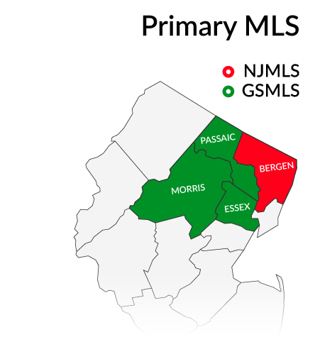 primary MLS service by county